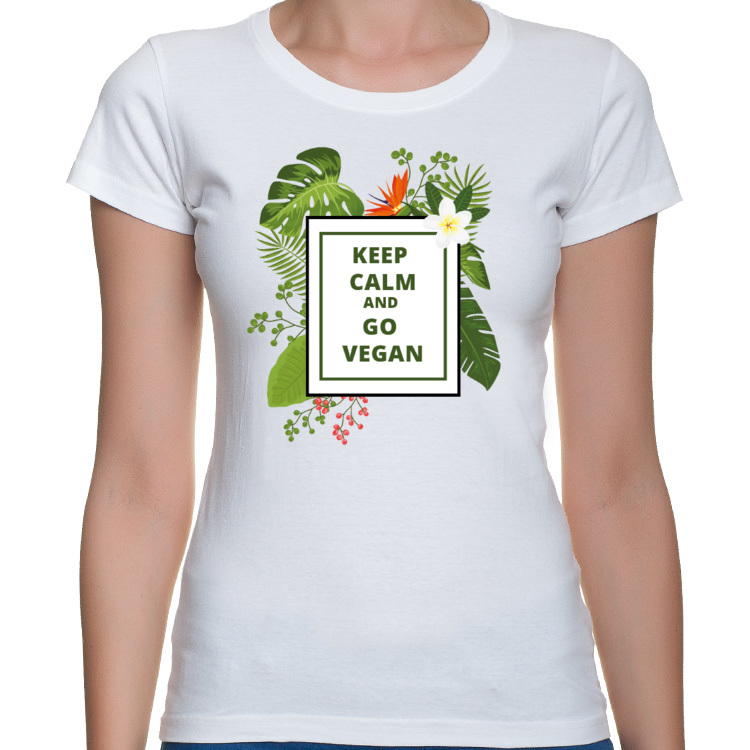Keep Calm and Go Vegan - Koszulka Damska